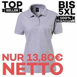 Damen-Poloshirt 983 von EXNER / Farbe: silbergrau / 100% Baumwolle - 1