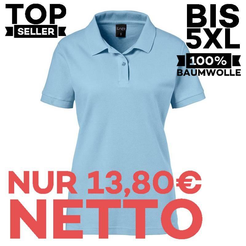 Damen-Poloshirt 983 von EXNER / Farbe: light blue / 100% Baumwolle - 1