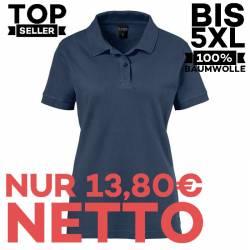 Damen-Poloshirt 983 von EXNER / Farbe: navy / 100% Baumwolle - 1