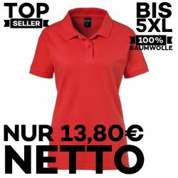 Damen-Poloshirt 983 von EXNER / Farbe: rot / 100% Baumwolle - 1