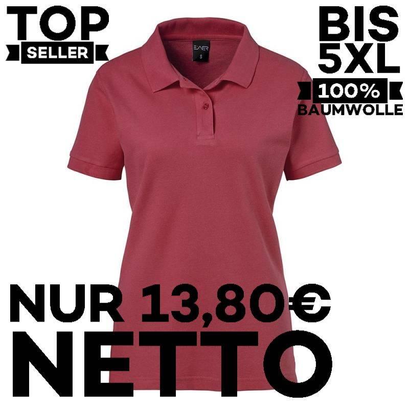 Damen-Poloshirt 983 von EXNER / Farbe: bordeaux / 100% Baumwolle - 1