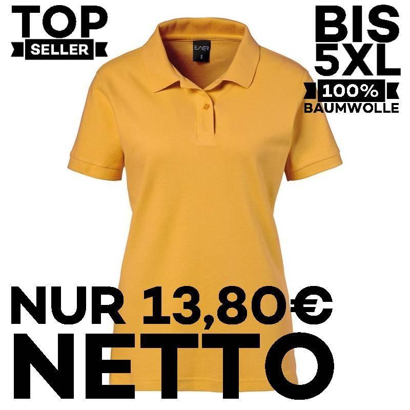 Damen-Poloshirt 983 von EXNER / Farbe: gelb / 100% Baumwolle - 1