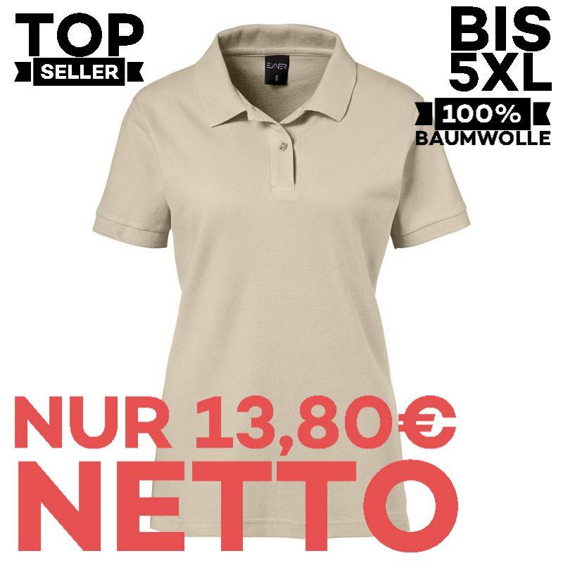Damen-Poloshirt 983 von EXNER / Farbe: sand / 100% Baumwolle - 1