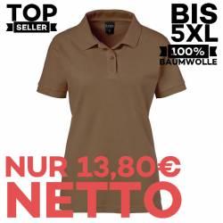 Damen-Poloshirt 983 von EXNER / Farbe: toffee / 100% Baumwolle - 1