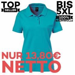Damen-Poloshirt 983 von EXNER / Farbe: teal / 100% Baumwolle - 1