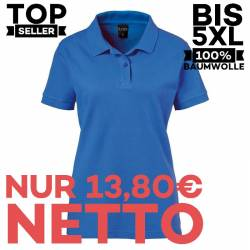 Damen-Poloshirt 983 von EXNER / Farbe: royal blue / 100% Baumwolle - 1