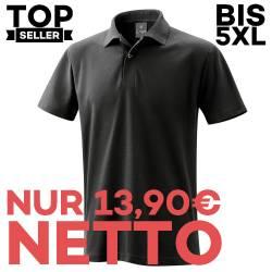 Herren - Poloshirt 982 von EXNER / Farbe: schwarz / 65% Baumwolle 35% Polyester - | MEIN-KASACK.de | kasack | kasacks |