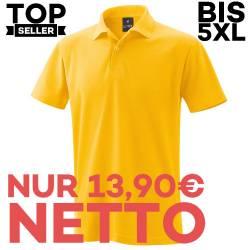 Herren - Poloshirt 982 von EXNER / Farbe: gelb / 65% Baumwolle 35% Polyester - | MEIN-KASACK.de | kasack | kasacks | kas