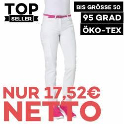Damenhose 7490 von LEIBER / Farbe: weiß / 50 % Baumwolle 50% Polyester - 1