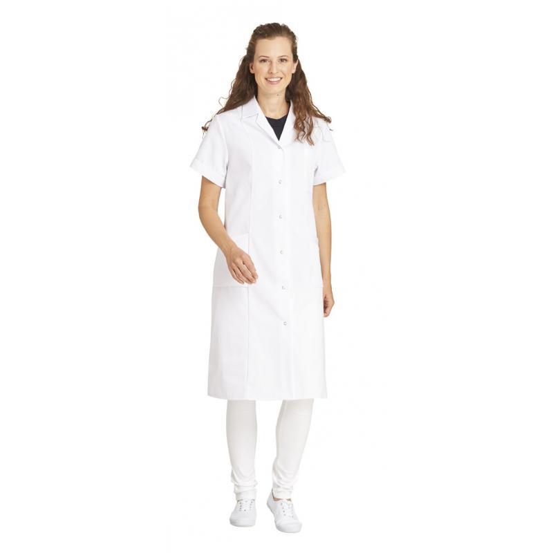 Damenmantel / Arztkittel / Laborkittel - 490 von LEIBER / Farbe: weiß / 65 % Polyester 35 % Baumwolle -   MEIN-KASACK.de