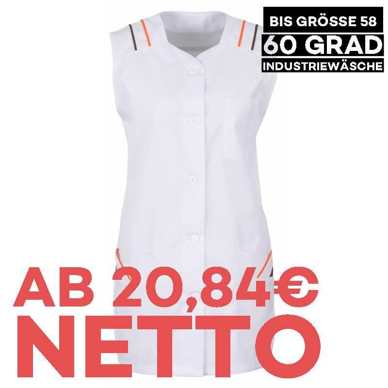 Damen -  Kasack 398 von BEB / Farbe: Weiß/Orange/Braun / 65% Polyester, 35% Baumwolle, 175 g/m² - 1