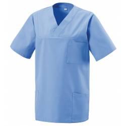 Damen -  Kasack 273 von EXNER / Farbe: hellblau / 50% Baumwolle 50% Polyester 175 gr. - 2
