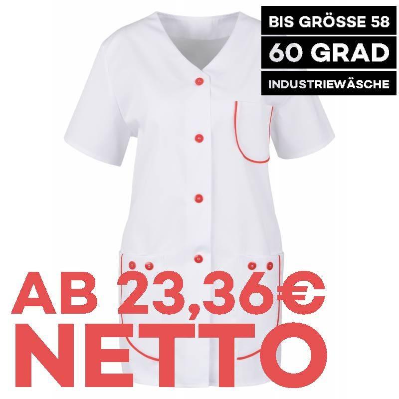 Damen -  Kasack 390 von BEB / Farbe: Weiß/Rot / 65% Polyester, 35% Baumwolle, 175 g/m² - 1