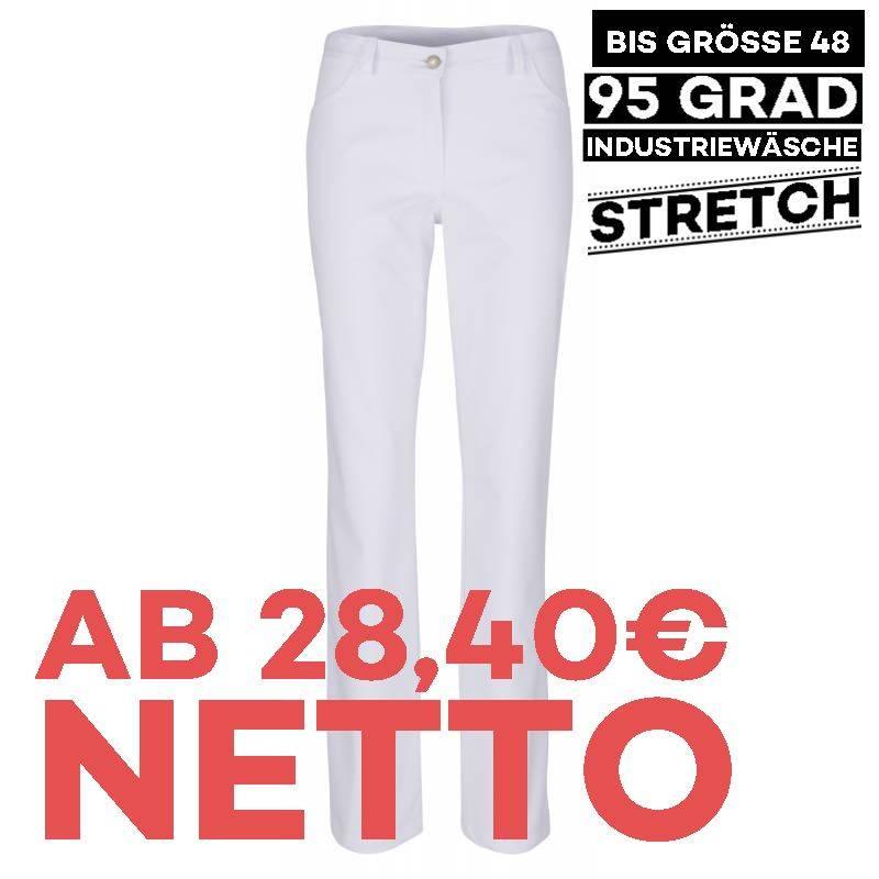 Damenhose - STRETCH - 810 von BEB / Farbe: weiß / 64% Polyester 34% Baumwolle 2% Elastolefin - 1