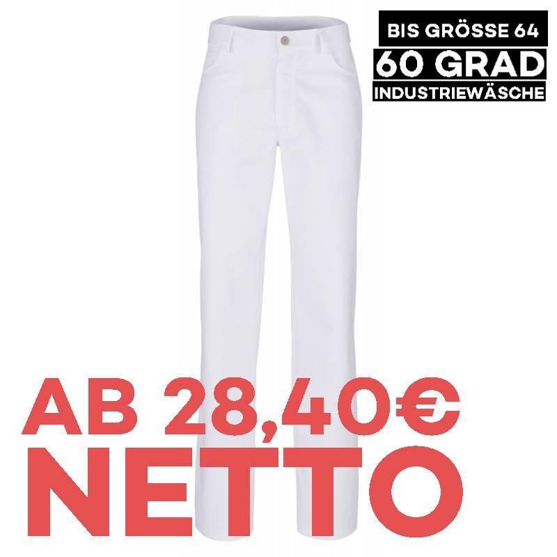 Herren - Bundhose - STRETCH - 420 von BEB / Farbe: weiß / 60% Polyester 35% Baumwolle 5% Elastolefin - | MEIN-KASACK.de