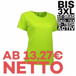 GAME Active Damen T-Shirt 571 von ID / Farbe: lime / 100% POLYESTER - 1
