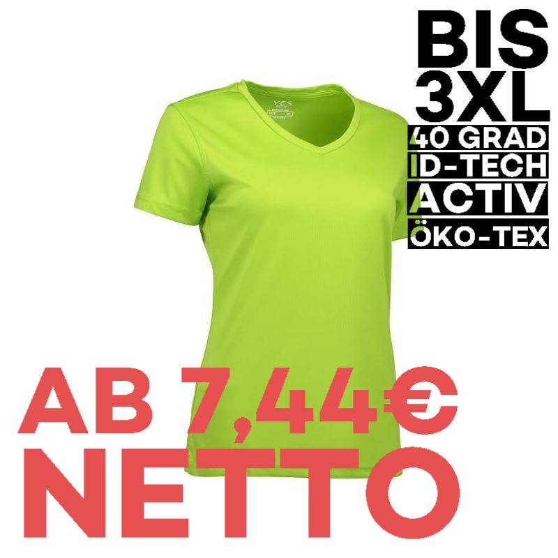 YES Active Damen T-Shirt 2032 von ID / Farbe: lime / 100% POLYESTER - 1