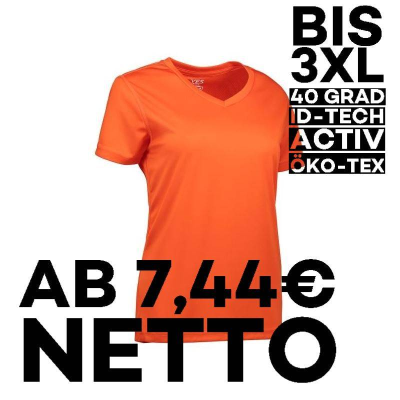 YES Active Damen T-Shirt 2032 von ID / Farbe: orange / 100% POLYESTER - 1