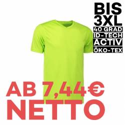 YES Active Herren T-Shirt 2030 von ID / Farbe: lime / 100% POLYESTER - 1