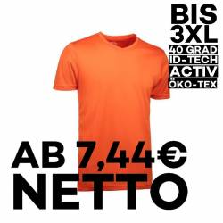 YES Active Herren T-Shirt 2030 von ID / Farbe: orange / 100% POLYESTER - 1