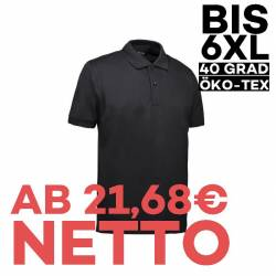 Piqué Herren Poloshirt 560 von ID / Farbe: schwarz / 80% BAUMWOLLE 20% POLYESTER - | MEIN-KASACK.de | kasack | kasacks |