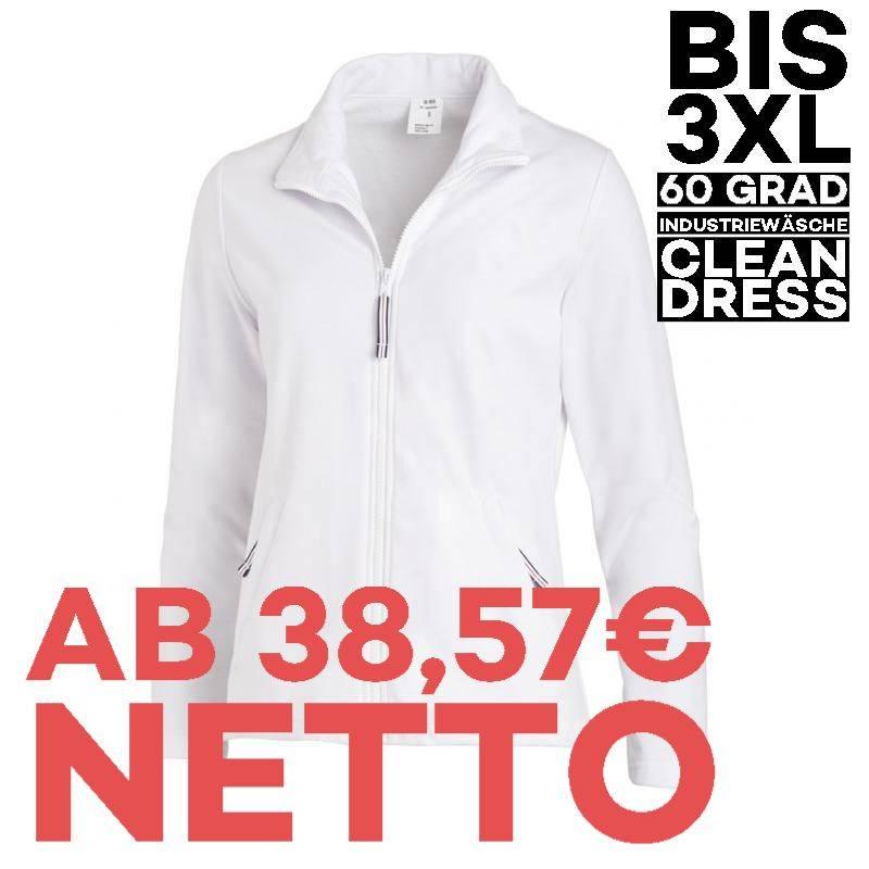 Damen-Sweatjacke 1059 von LEIBER / Farbe: weiß / 50 % Baumwolle 50 % Polyester - 1