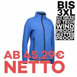 Funktionelle Soft Shell Damenjacke 856 von ID / Farbe: azur / 100% POLYESTER - 1