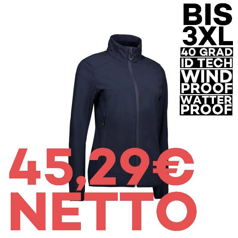 Funktionelle Soft Shell Damenjacke 856 von ID / Farbe: navy / 100% POLYESTER - 1