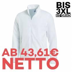 Herren-Fleecejacke 2665 von LEIBER / Farbe: weiß / 100 % Polyester - 1