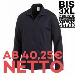 Herren-Sweatjacke 1095 von LEIBER / Farbe: marine / 50 % Baumwolle 50 % Polyester - 1