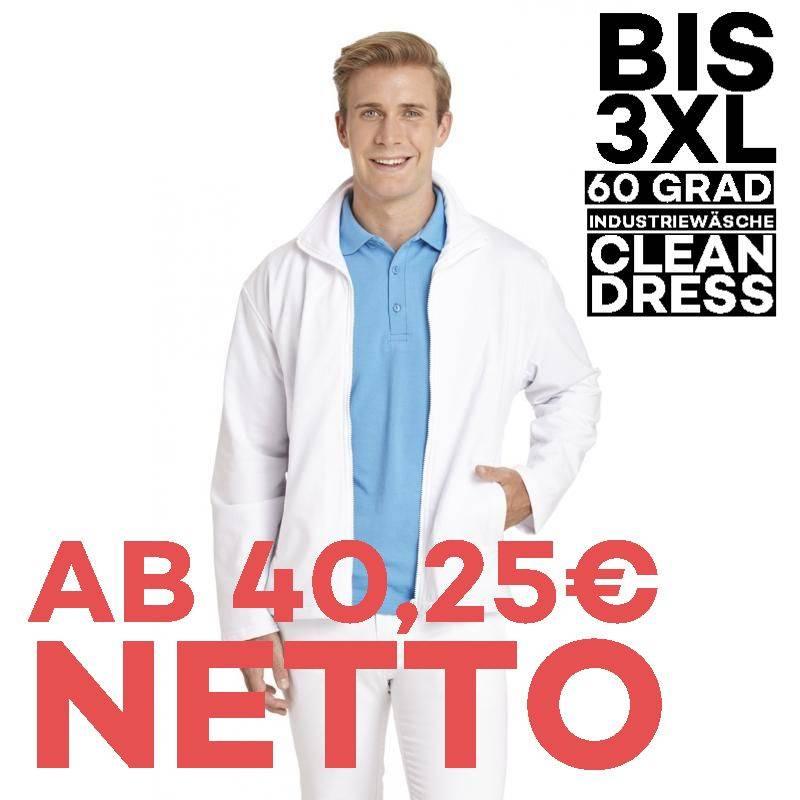 Herren-Sweatjacke 1095 von LEIBER / Farbe: weiß / 50 % Baumwolle 50 % Polyester - 1