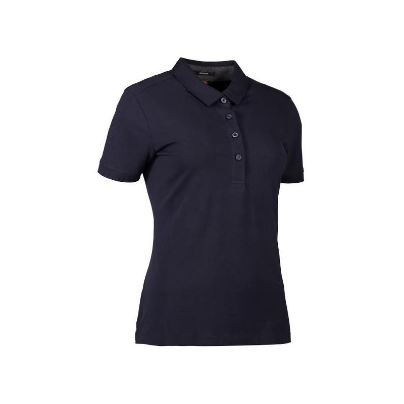 Business Damen Poloshirt | Stretch 535 von ID / Farbe: navy / 95% BAUMWOLLE 5% ELASTANE - | Wenn Kasack - Dann MEIN-KASA