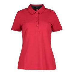 Business Damen Poloshirt   Stretch 535 von ID / Farbe: rot / 95% BAUMWOLLE 5% ELASTANE -   MEIN-KASACK.de   kasack   kas