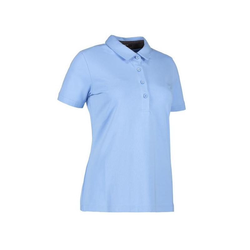 Business Damen Poloshirt | Stretch 535 von ID / Farbe: hellblau / 95% BAUMWOLLE 5% ELASTANE - | Wenn Kasack - Dann MEIN-