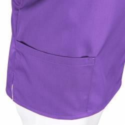 Damen -  Kasack 2651 von MEIN-KASACK.de / Farbe: violett / 65%PES - 35%BW - 170g/m² - 3