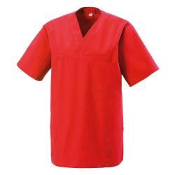 Damen -  Kasack 273 von MEIN-KASACK.de / Farbe: rot / 50% Baumwolle 50% Polyester 175 gr. - 2