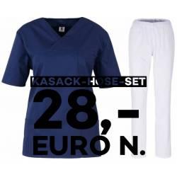 SALE - Kombination aus KASACK 2651 und SCHLUPFHOSE 2648 von MEIN-KASACK.de / Farbe: marine - weiß - | MEIN-KASACK.de | k
