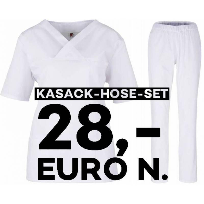 SALE - Kombination aus KASACK 2651 und SCHLUPFHOSE 2648 von MEIN-KASACK.de / Farbe: weiß - | MEIN-KASACK.de | kasack | k