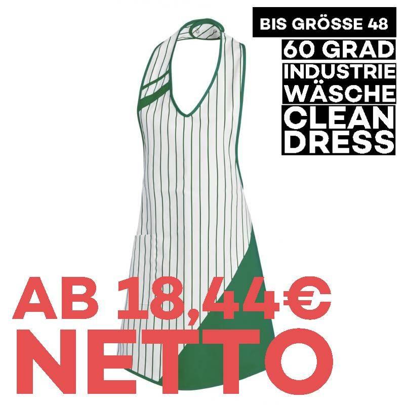 Überwurfschürze 738 von LEIBER / Farbe: weiß-gärtnergrün / 65 % Polyester 35 % Baumwolle - | MEIN-KASACK.de | kasack | k