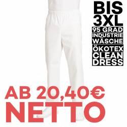 Herren-Schlupfhose 107 von LEIBER / Farbe: weiß / 50 % Baumwolle 50 % Polyester - | MEIN-KASACK.de | kasack | kasacks |
