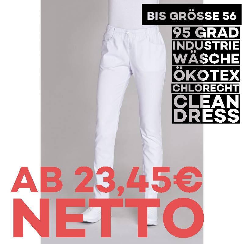 Damen-Schlupfhose 8320 von LEIBER / Farbe: weiß / 35 % Baumwolle 65% Polyester - | MEIN-KASACK.de | kasack | kasacks | k