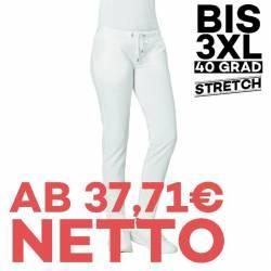 Damen-Sweathose - STRETCH -7560 von LEIBER / Farbe: weiß / 95 % Baumwolle 5% Elasthan - | MEIN-KASACK.de | kasack | kasa