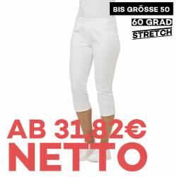 Damenhose  - STRETCH - 7870 von LEIBER / Farbe: weiß / 72% Baumwolle 23% Polyamid 5% Elastolefin - | MEIN-KASACK.de | ka