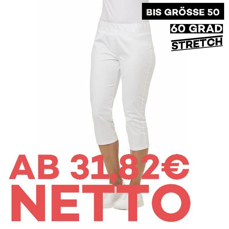 Damenhose  - STRETCH - 7870 von LEIBER / Farbe: weiß / 72% Baumwolle 23% Polyamid 5% Elastolefin -   MEIN-KASACK.de   ka