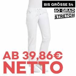Damenhose - STRETCH - 6980 von LEIBER / Farbe: weiß / 48 % Polyester 48 % Baumwolle 4 % Elastolefin - | MEIN-KASACK.de |