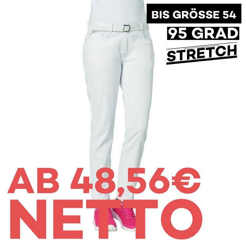 Damenhose - STRETCH - 7670 von LEIBER / Farbe: weiß / 97 % Baumwolle 3 % Elastolefin -   MEIN-KASACK.de   kasack   kasac