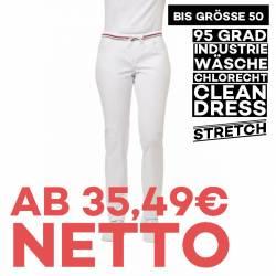 Damenhose - STRETCH - 7740 von LEIBER / Farbe: weiß / 97% Baumwolle 3% Elastolefin - | MEIN-KASACK.de | kasack | kasacks