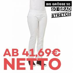 Damenhose - STRETCH - 7810 von LEIBER / Farbe: weiß / 72 % Baumwolle 23 % Polyamid 5 % Elastolefin - | MEIN-KASACK.de |