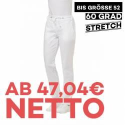 Damenhose - STRETCH - 7840 von LEIBER / Farbe: weiß / 64% Baumwolle 35% Polyester 1% Elastolefin - | MEIN-KASACK.de | ka