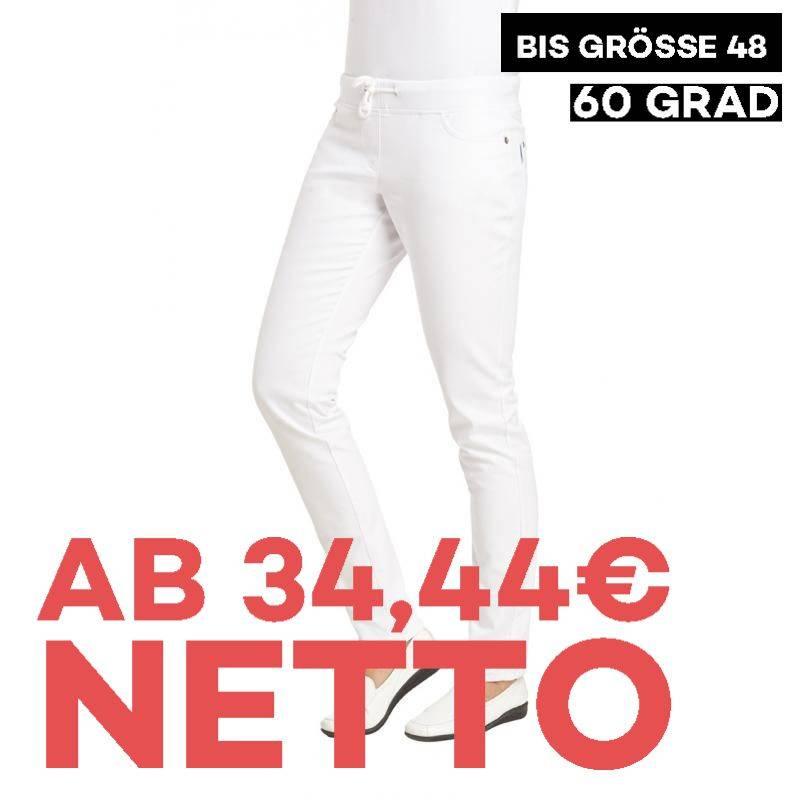 Damenhose - STRETCH - 1060 von LEIBER / Farbe: weiß / 97 % Baumwolle 3 % Elastolefin - | MEIN-KASACK.de | kasack | kasac
